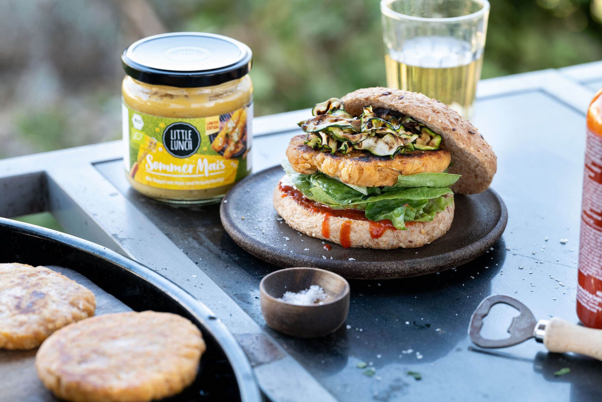 Rezept: Veggie Burger mit Mais Patties